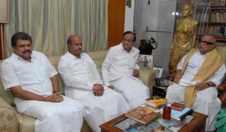Congress-DMK-Chidambaram-Vasan-Thangabalu-Karunanidhi