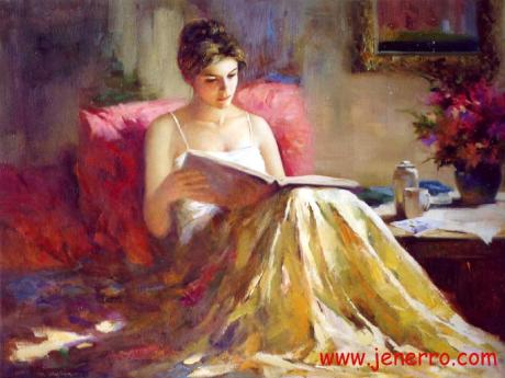 oil_paintings_impression_lady_on_canvas