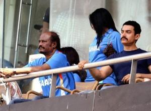 ரஜினிகாந்த - ஆமிர் கான் - உலகக்கோப்பை ஃபைனலில்